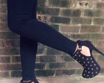 Black and Gold Heels