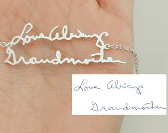 Signature Bracelet, Custom Handwriting, Memorial Bracelet, Handwritten Jewelry, Handwriting Jewelry, Signature Jewelry, Christmas Gift