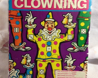 1960s Game - vintage Puzzle - vintage clown game - circus game - merit games - board game - clown crafts - clown puzzle