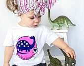 Girl Dinosaur Shirt, Pink Dinosaur, Girl Dinosaur Party, Dinosaur for Girls, Dinosaur Party, Dinosaur, Dinosaur Shirt, Girls T Shirt, Dino