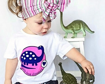 Girl Dinosaur Shirt, Pink Dinosaur, Girl Dinosaur Party, Dinosaur for Girls, Dinosaur Party, Dinosaur, Dinosaur Shirt, Girls T Shirt, Dino
