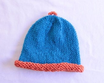 Two Color Knitted Toddler Hat