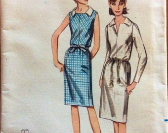 1960s shift dress Mad Men era Butterick 3783 uncut vintage sewing pattern Petite Bust 32 Waist 25 Hip 34 Preppy Retro 60s style slim fit