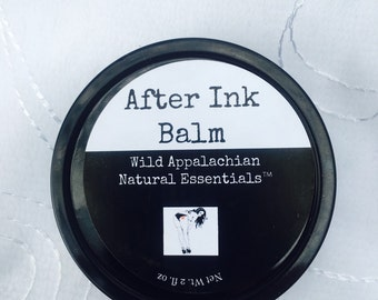 After Ink Balm-100% Natural Tattoo Balm - Tattoo Salve - Tattoo Balm - Tattoo Wax - Tattoo Goo - MicroBlading Salve - Tattoo Ointment