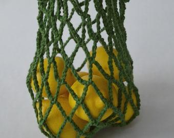 Shopping bag in small cotton bag for the ecological market/accessory mesh/Eco-bag / reusable bag / Market bag/Mesh bag/A.tricote