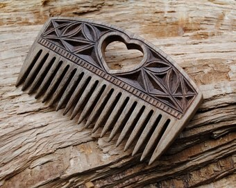 Women comb gift for her women accessories wood comb wooden hairbrush carved comb natural organic comb mum gift hair brush comb for women