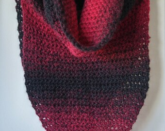 Red and Black Ombre Armor Scarf