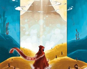 Journey Print, Journey Fanart, Journey Game, Journey Poster