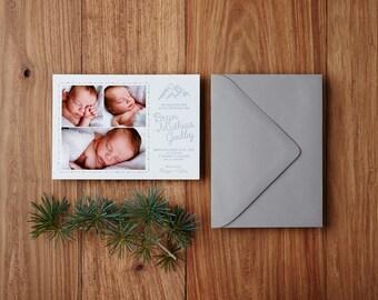 Custom Letterpress Baby Announcement, Deposit Only