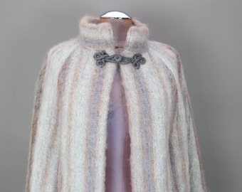 70s MOHAIR HANDWOVEN CAPE coat by Studio in the Church
