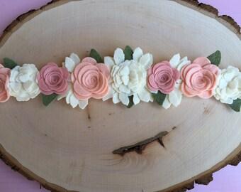Boho Baby Flower Crown, Boho Flower Crown, Floral crown, Pink Flower Crown, Flower Girl Headband, Flower Girl Crown, Flower Halo,