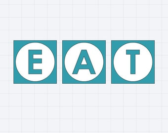 EAT vinyl stencil for kitchen or dining wall decor
