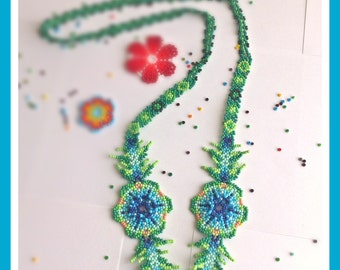 Verdeagua (Crystal beads necklace. (Artisan)