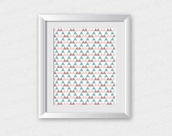 Geometric Printable / Geometric Art Print | Abstract Printable | Geometric Wall Art | Home Wall Decor | Triangle Art Print | Modern Wall Art