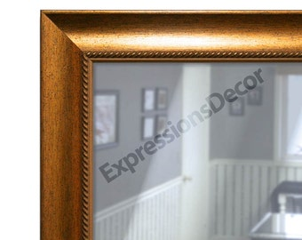 Custom Gold Speckle Wall Mirror - Flat Glass - FREE SHIPPING