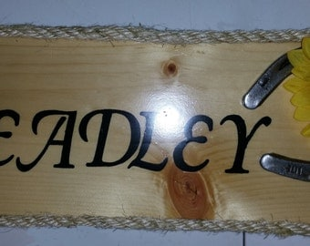 Beautiful Custom Western Name Plaque that proudly says who you are