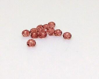 4mm Blush Rose Bead, Swarovski Crystal Bead, 5040 Faceted Rondelle, Pink Bead, Blush Pink Bead, Swarovski Elements, Diy Jewelry, YC8107A