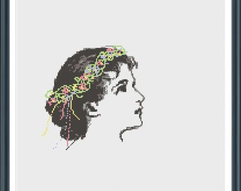 Spring Goddess - cross stitch pattern - pdf download