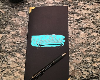 Hand-bound Blank Page Wanderlust Notebook