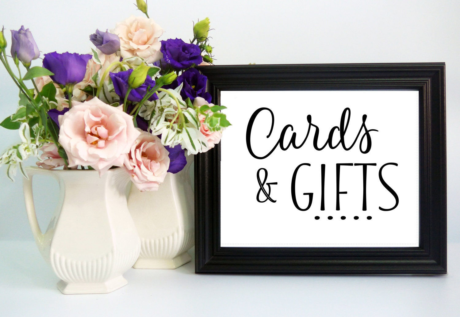 Wedding Gift Table Sign Wording : Wedding Card & Gift Table Sign Trendy Style DIY