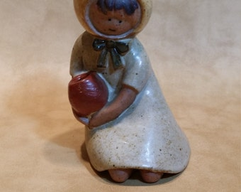 Vintage UCTCI Japan Girl with Pot Figurine