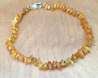 Lemon Amber Teething Necklace, custom amber necklace, Baltic amber teething necklace, custom amber baby necklace, Baltic amber baby necklace