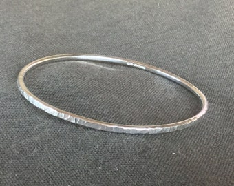 Silver textured bangle
