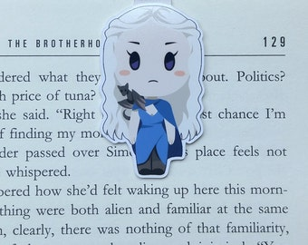 Daenerys - Magnetic bookmark - game of thrones || book lover gift | khaleesi | bookmark | bookish | bookmarks | got | magnetic bookmarks