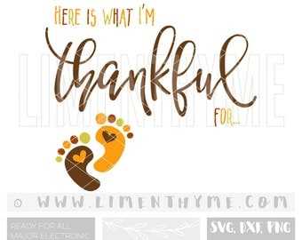 Thanksgiving SVG Thankful for / mommy to be svg / baby shower gift / cut files cutting files / baby announcement clipart / Aj