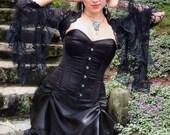 La Rose Gothique - Gothic Black Wedding Gown - Ready to Ship