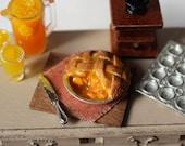 Dolls House Miniature Peach Pie
