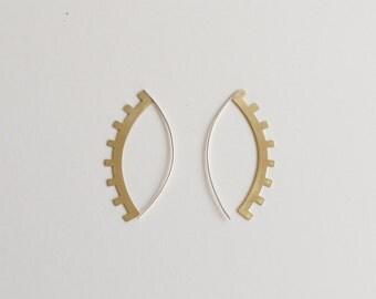 Azur Drop Earrings - Geometric, Southwestern, Eyelash Earrings