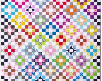 Scrappy Day Trip Quilt Pattern (PDF file) by Red Pepper Quilts