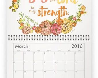 2016 Scripture Art Calendar, 2016 Faith Art Calendar, 2016 Bible Verse Calendar, 2016 Art Calendar