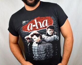 RARE Vintage Vtg 1980s A-Ha Tshirt Tee Shirt