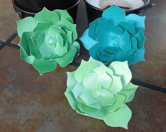 Paper succulents  - set of 5