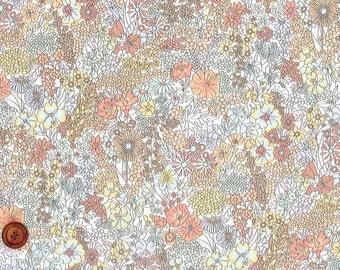 Liberty Tana Lawn Fabric, Liberty of London, Liberty Japan, Margaret Annie, Cotton Print Scrap,  Floral Design, Quilt, Patchwork, kt1165w
