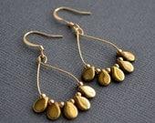Gold Hoops Tiny Gold Teardrops . Earrings