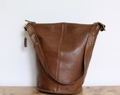 Vintage Coach Duffle Sac Bag // Original NYC Pre 9085 Duffel Dark Tan RARE // Feedbag New York City