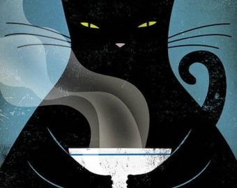 Fat Cat - Cross stitch pattern pdf format