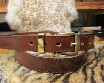 Mens brown dress belt , extra long leather belt , handmade custom belt , long belt