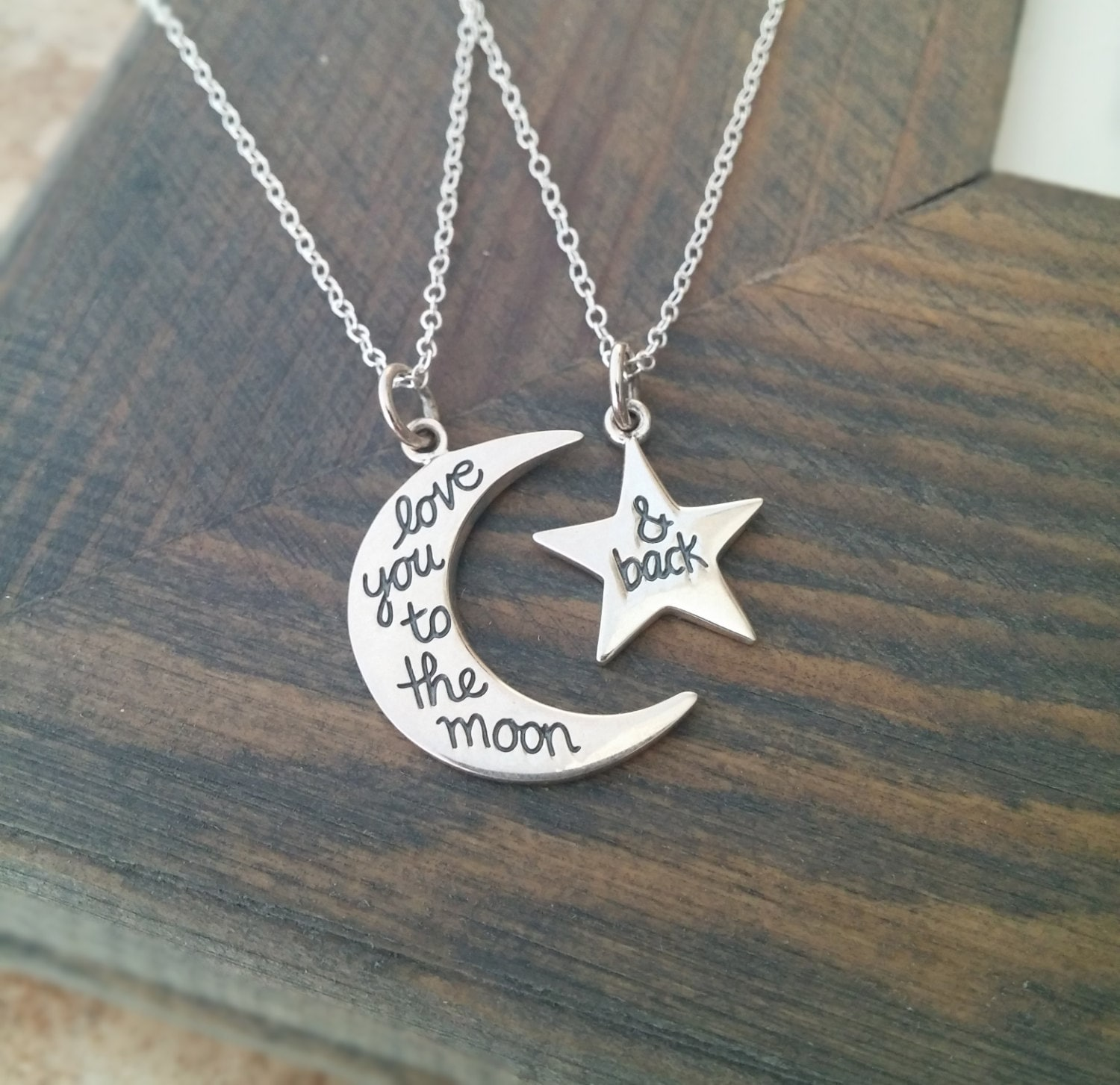 Love You To The Moon And Back Necklace Set // Gift For Her