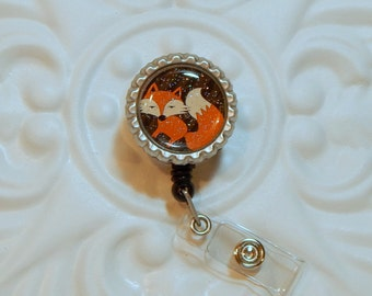 Retractable Badge Holder | Badge Holder | Badge Reel | Nurse Badge Holder | Cute Fox