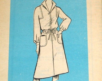 Vintage 1970s Mail Order Sewing Pattern 9103, Zipped Coat Dress with Square Armholes, Belt Womens Misses Size 16 Bust 38 Uncut Factory Folds