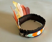 Indian Headdress // BLUE, ORANGE, & MINT // Stretch to fit // for boys 3+