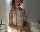 ON SALE! The Scarlett Ivory Flapper Dress