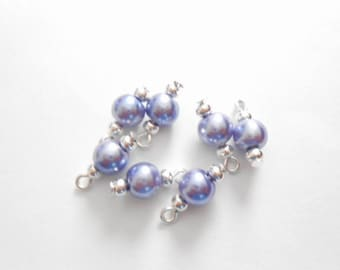 Lavender Glass Pearl Dangle Beads