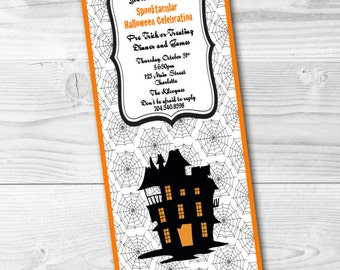 Halloween Haunted House Invitation