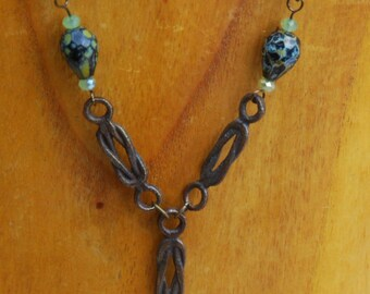 CLEARANCE - Vintage Chain Necklace and Earrings