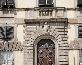 Rustic Door Photography, Urban, Italy, Travel Photography, Travel Print, Old Door, Home Decor, Foyer Wall Art, Brown, Beige, Neutral Decor